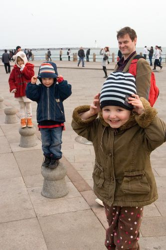 Three kids on posts may4th square