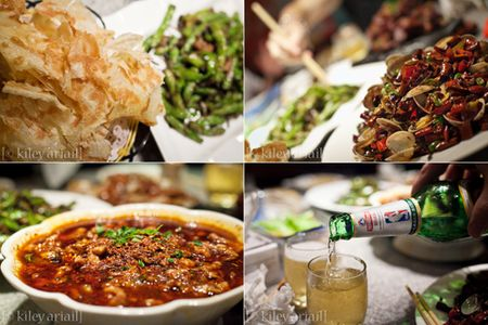 Sichuan food montagesm