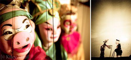 Puppet diptych