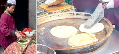 Street food diptych