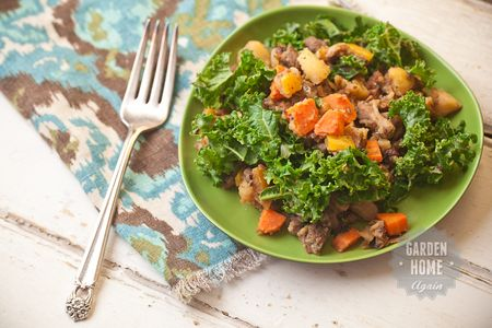 Roast Beef Hash with Carrots- Peppers and Kale - Garden Home Again 1