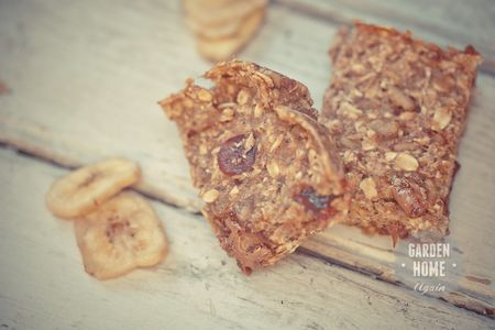 Banana Oatmeal Bars - Garden Home Again 5